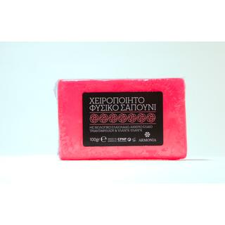 Handmade Natural Soap: With Organic Olive Oil & Rose 100gr